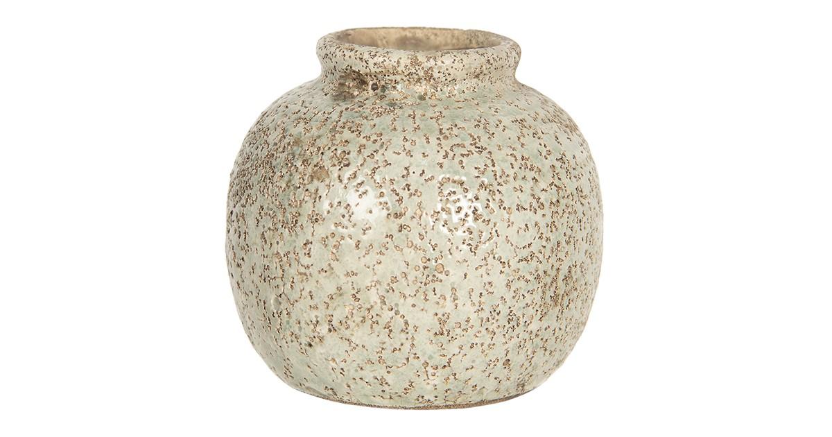 Clayre & Eef Vaas - Ø 8*8 cm - bruin - keramiek - rond -  - 6CE1216