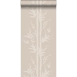 Origin behang bamboe warm zilver