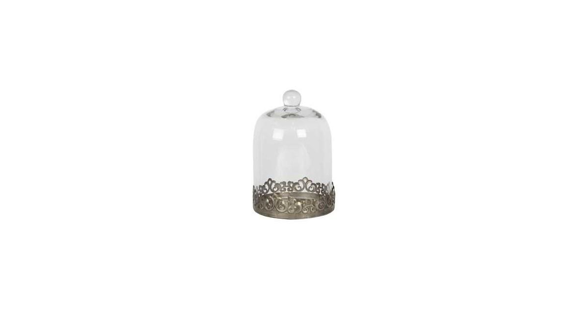 Clayre & Eef Stolp | Ø 14*20 cm | Transparant | Metaal / glas | Rond |  | 6GL2819
