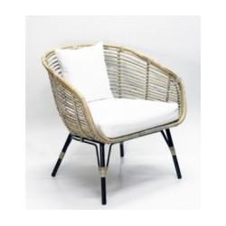 Handgemaakte rieten stoel Luxe - naturel XL