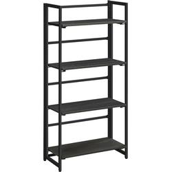 MIRA Home - Boekenrek met 4 lagen zwart - 125x60x30