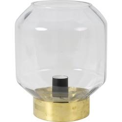 Tafellamp OFIN - glas helder-koper - M