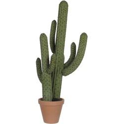 Mica Decorations cactus groen in plastic pot maat in cm: 85cm