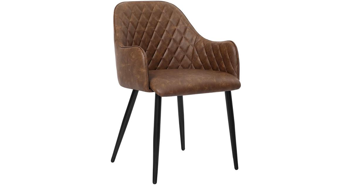 Nancy's Klickitat Eetkamerstoel - Moderne en Elegante Vrijetijdsstoel - Eetkamerstoelen - Metalen Po
