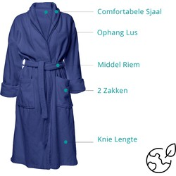 Nightlife - Sauna badjas - Heren & dames - Blauw