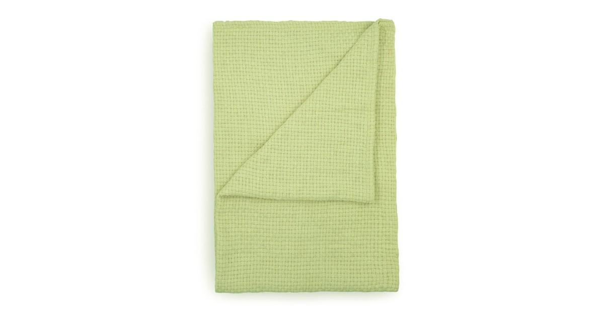 Yellow Wafel Stephanie Bedsprei Plaid - green 180x260cm