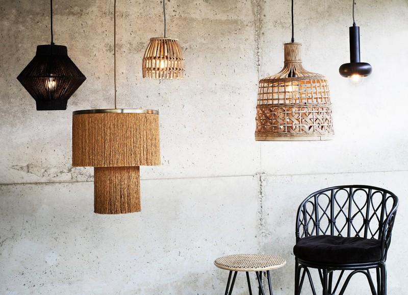 Hanglampen voor een bohemien interieur
