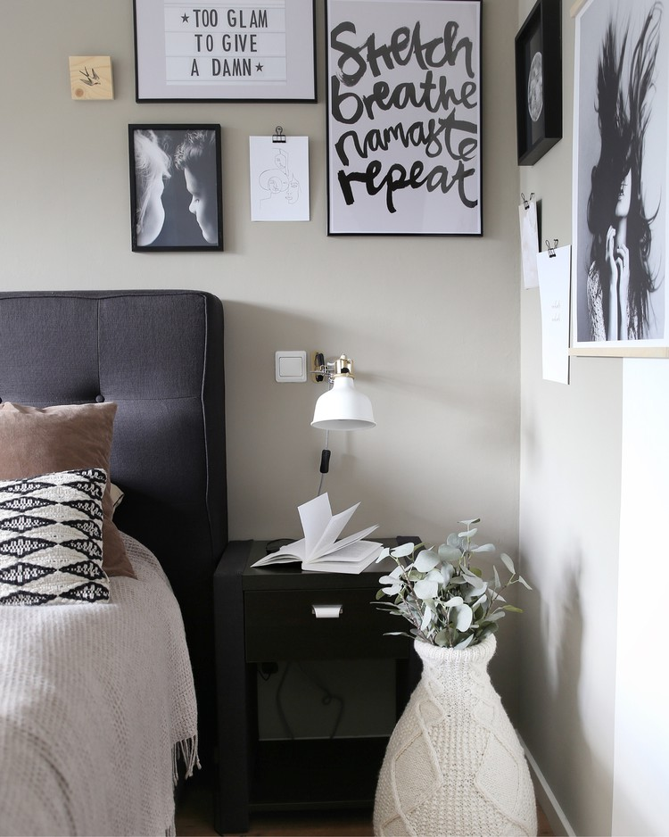 slaapkamer-kunst-nachtkastje