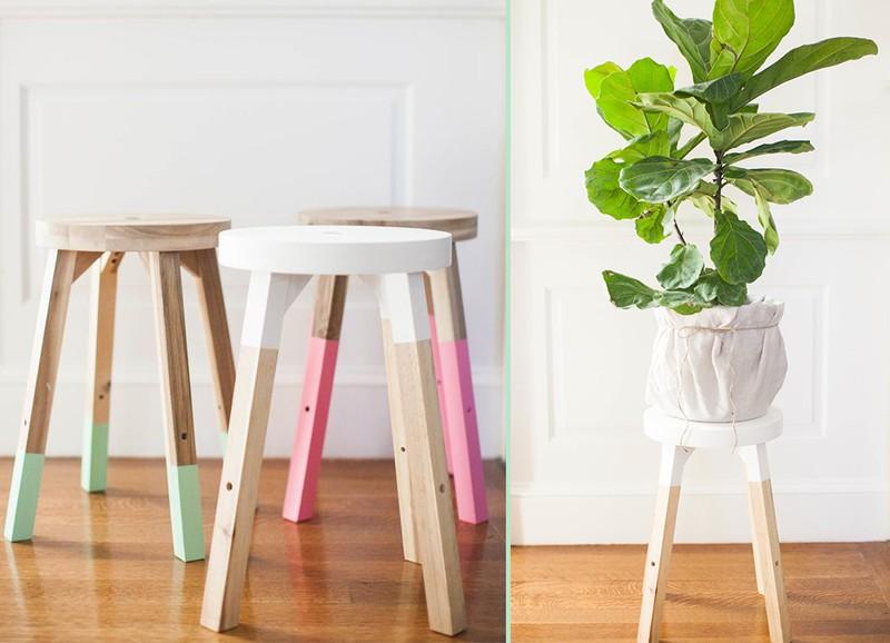 DIY: simpele 'dipped stools'