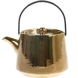 HKliving theepot goud keramiek bold & basic 16x13x11cm