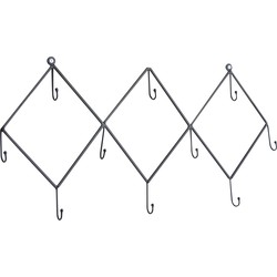 LOFT42 Hook kapstok met 10 haken - Metaal - Mat Zwart - 31x62x3