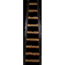 Decoratieve ladder Tangga - 195 cm - naturel/zwart - teak