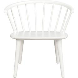 Carmen houten loungestoel - Spijlenstoel - Wit