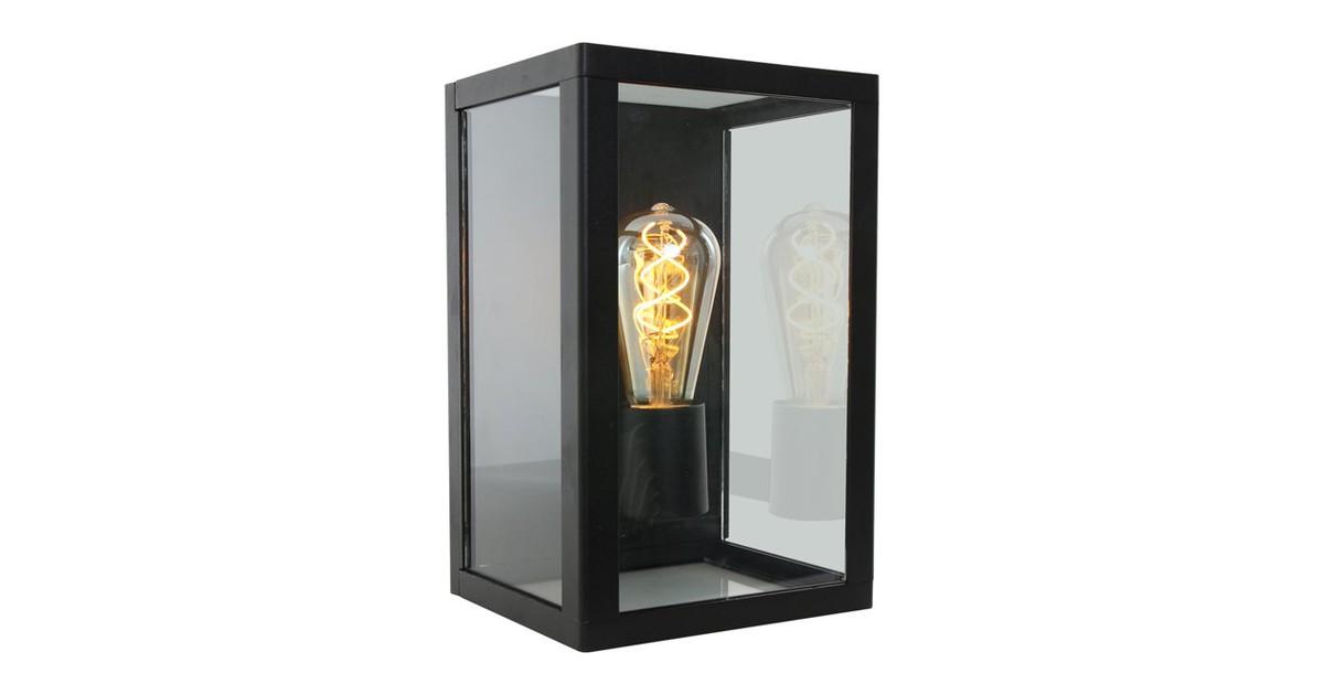 Boas Buiten wandlamp met glas 1 lichts zwart - Klassiek - 2 jaar garantie