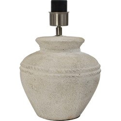 *terracotta Lampvoet Vaas Rond Zand 38cm*