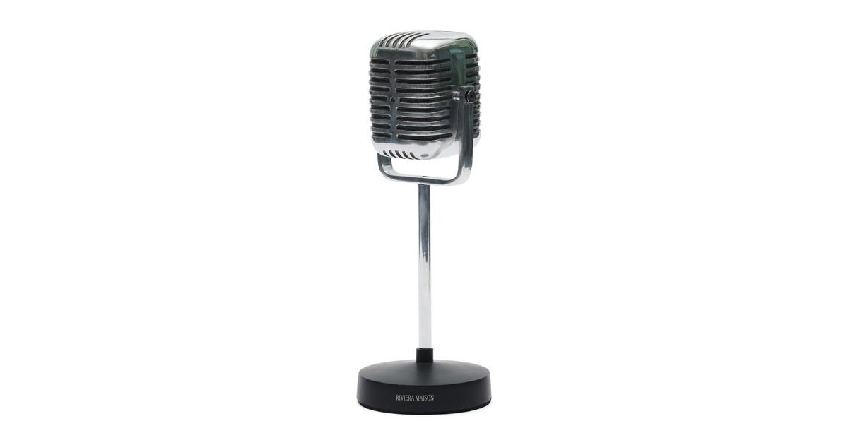 Riviera Maison RM Microphone Statue Microfoon Silver 12.0 x 12.0 online kopen