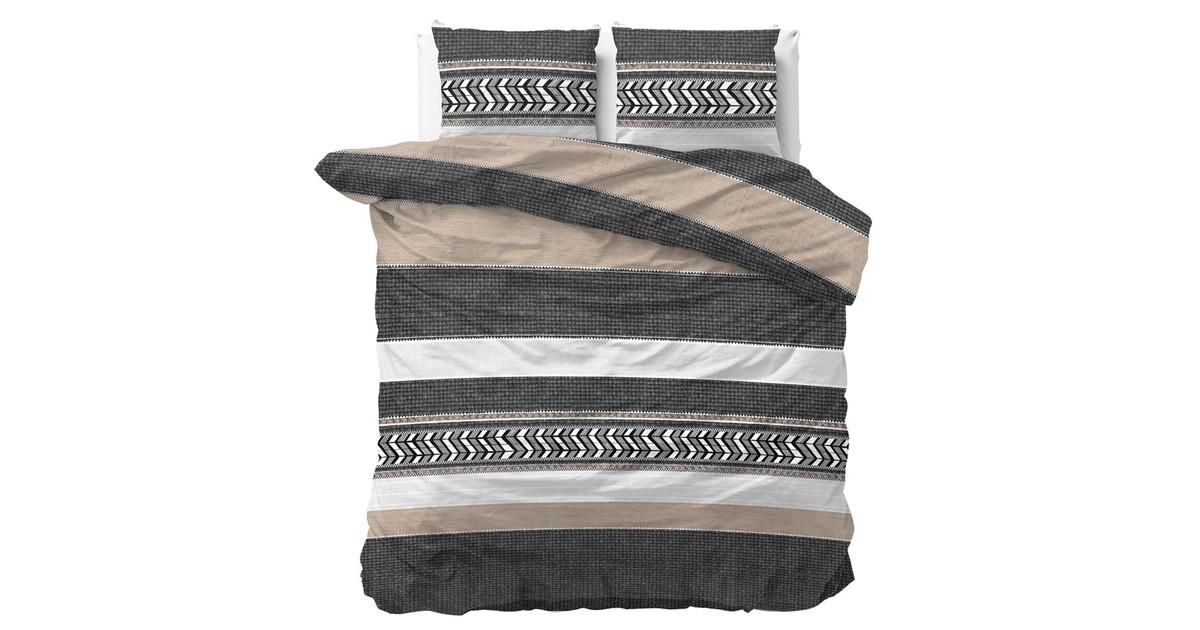 Dreamhouse Dekbedovertrek Northern Stripe Taupe-2-persoons (200 x 200/220 cm)
