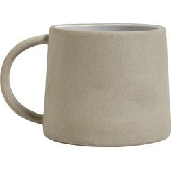 Nordal mok aardewerk mat beige/wit Ø 9 cm
