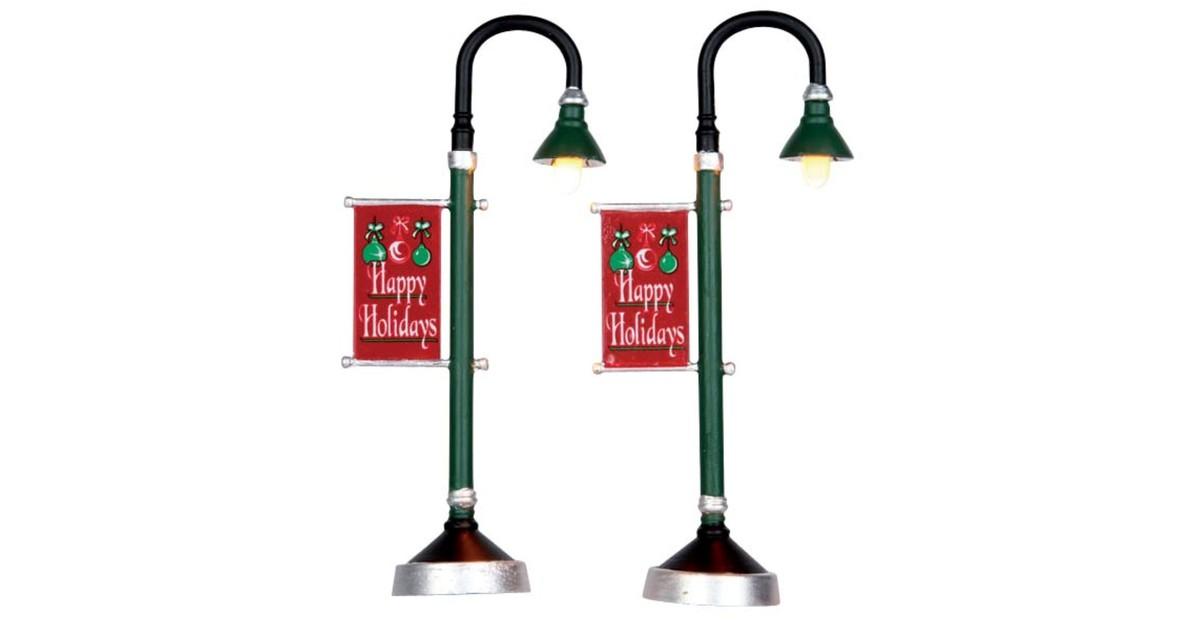 Municipal street lamp, set of 2, b/o (4.5v)