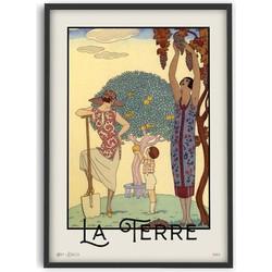 Vintage George Barbier Art - La Terre - Poster - PSTR studio