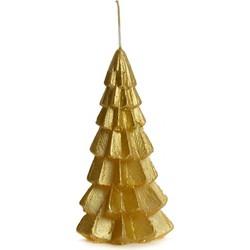 """Rustik lys Kaars """"Kerstboom"""" Goud - Klein - 6.3x12cm"""