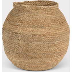 Storage basket jute Round Natural