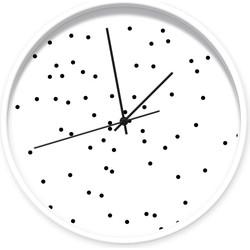 Klok stippen wit zwart 001 - Wit / zwart