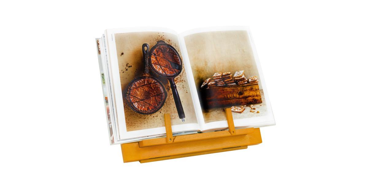 QUVIO Kookboekstandaard / Boekenstandaard / Tabletstandaard - Hout