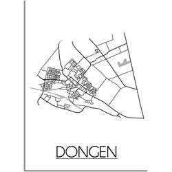 Dongen Plattegrond poster - B2 poster (50x70cm)