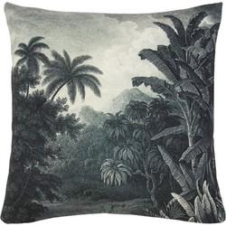 HKliving kussen, sierkussen jungle zwart wit 45x45 cm