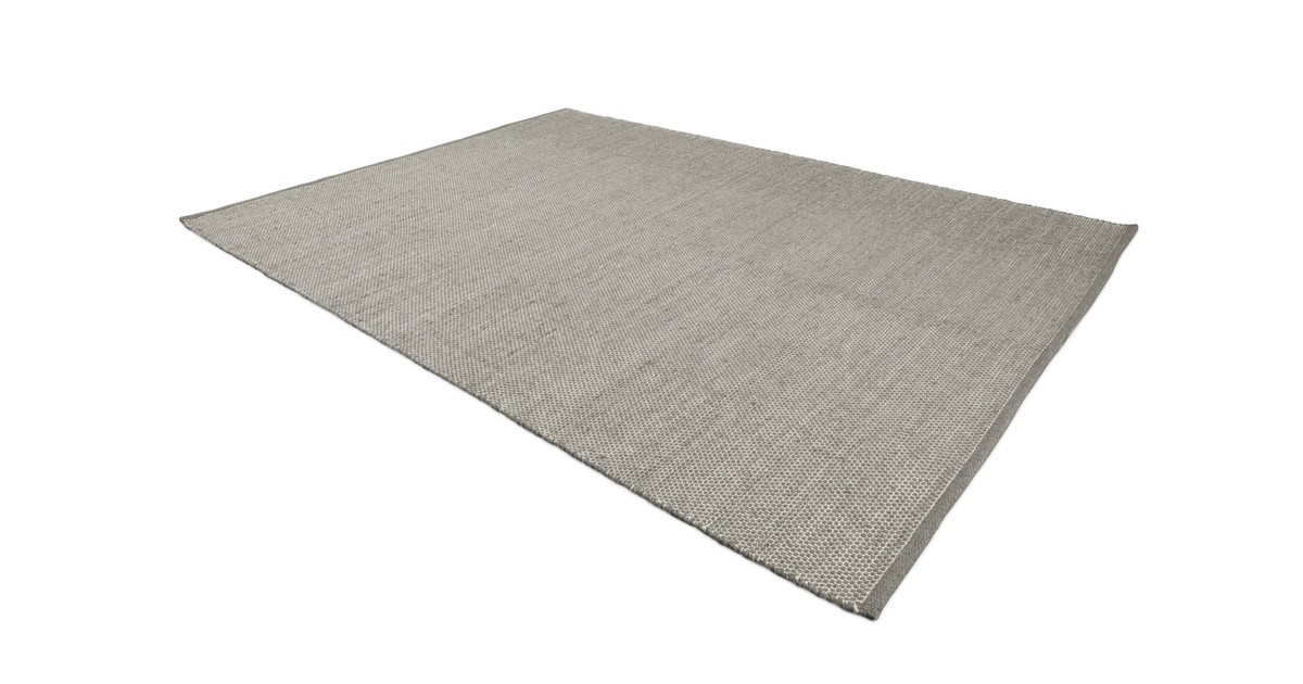 Lifa Living Vintage Vloerkleed, Grijs Tapijt, Wollen Vloerkleed, Handgeweven Vloerkleed voor Woonkamer, Slaapkamer, 140 x 200 cm online kopen
