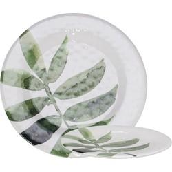 Gusta Melamine bord 23cm Leaf