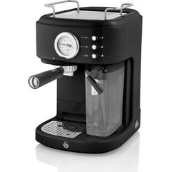 Swan One-Touch Retro Espressomachine Zwart