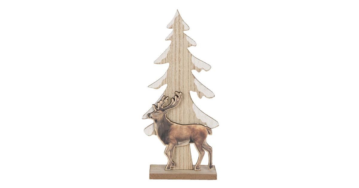 Clayre & Eef Decoratie kerstboom 11*5*24 cm bruin - 6H1886 -