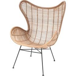 fauteuil rotan naturel 110 x 70 x 83