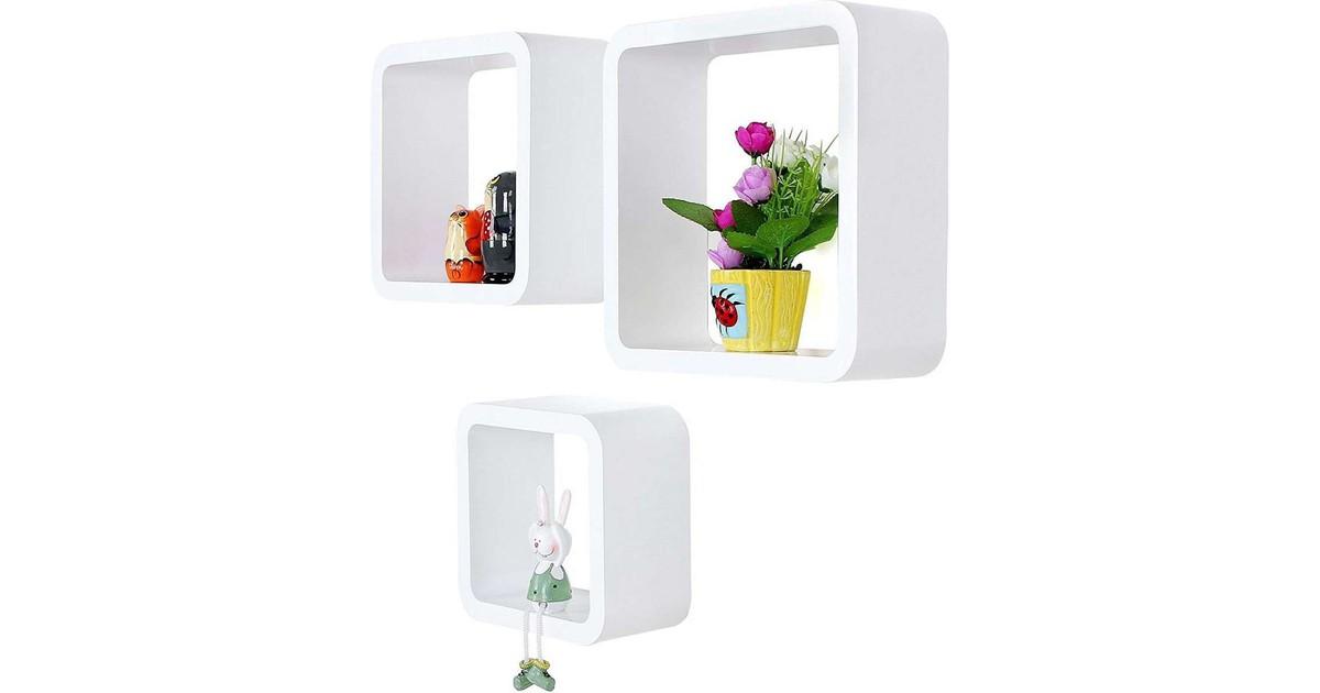 Nancy's Wandbox - Set van 3 - Wand Kubussen - Opslagplanken - Wandboxen