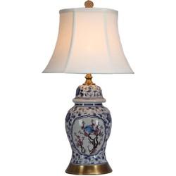 Fine Asianliving Fine Asianliving Tafellamp Porselein met Lampenkap Bloesems