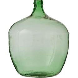 Mica Decorations vienne fles glas groen maat: 60 x 44cm