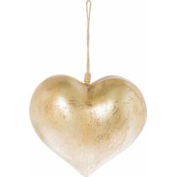 Deco Heart goud 13cm