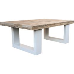 Wood4you - Salontafel New England steigerhout wit 115Lx40Hx80D cm