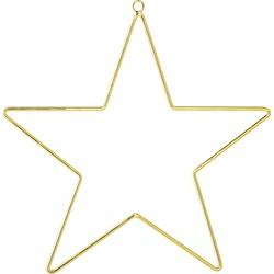 Bloomingville Kerstster goud metaaldraad