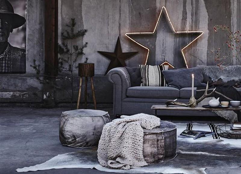 Zo creëer je een industriële kerststijl in huis