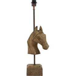 Light&Living Lampvoet HORSE hout weather barn 62 x 27 x 14