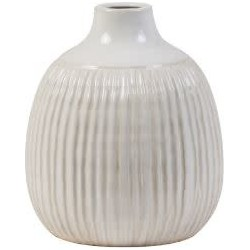 Vase deco Ø17.5x21.5 cm SALVADA ceramics white