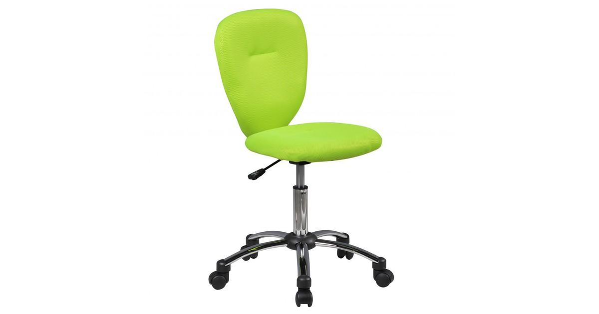 Nancy's Topeka Bureaustoel voor Kinderen - Draaistoel - Bureaustoel - Kinderstoel - Verstelbaar - Zwart/Groen/Blauw - Groen