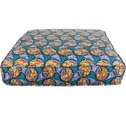Matras kussen African print wink blue - 120x40x15
