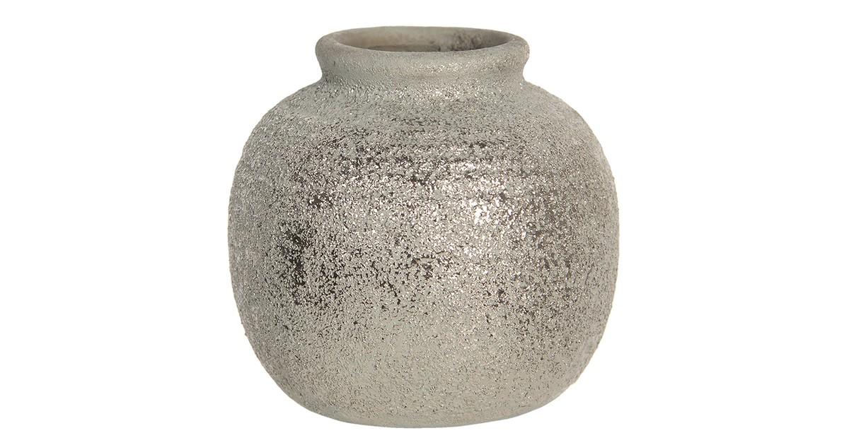 Clayre & Eef Vaas - Ø 8*8 cm - bruin - keramiek - rond -  - 6CE1219