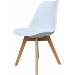 Set van 4 stoelen - Alba stoelen - wit - lagom