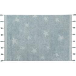 Hippy Stars Aqua Blue | Vloerkleed