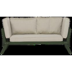 Lanterfant® Loungebank Lars - Aluminium - Groen - Uitklapbaar
